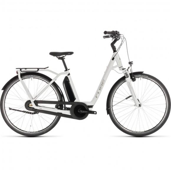 Bicicleta Cube Town Hybrid Pro 400 Easy Entry White Silver 2019