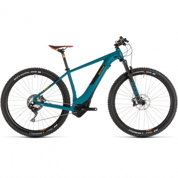 Bicicleta Cube Reaction Hybrid Slt 500 Kiox Pinetree Orange 2019