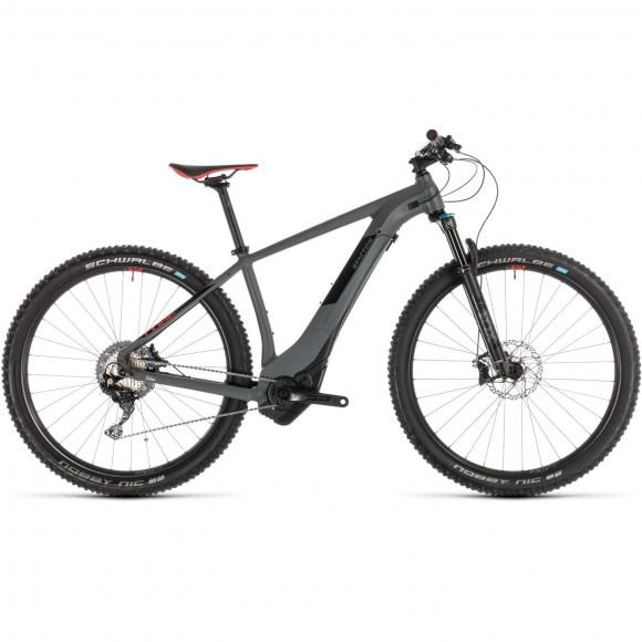Bicicleta Cube Reaction Hybrid Slt 500 Grey Red 2019