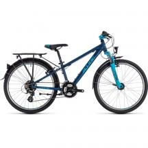 Bicicleta Cube Kid 240 Street Darkblue Aqua 2019