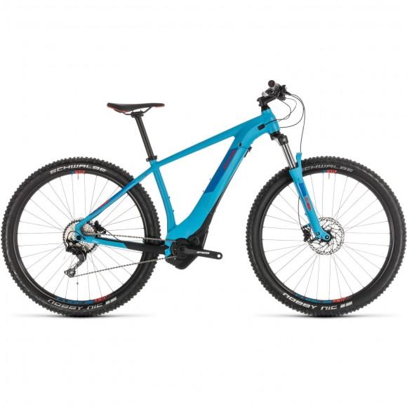 Bicicleta Cube Reaction Hybrid Exc 500 Blue Red 2019