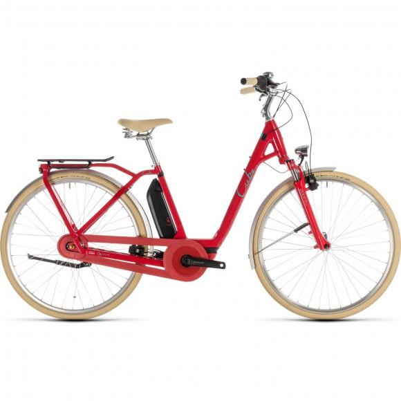 Bicicleta Cube Elly Cruise Hybrid 400 Easy Entry Red Mint 2019