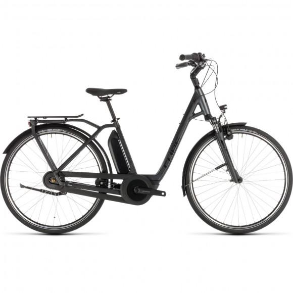 Bicicleta Cube Town Hybrid Pro Rt 400 Easy Entry Iridium Black 2019