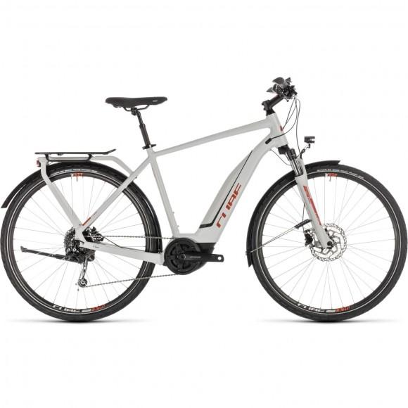 Bicicleta Cube Touring Hybrid 500 Grey Orange 2019