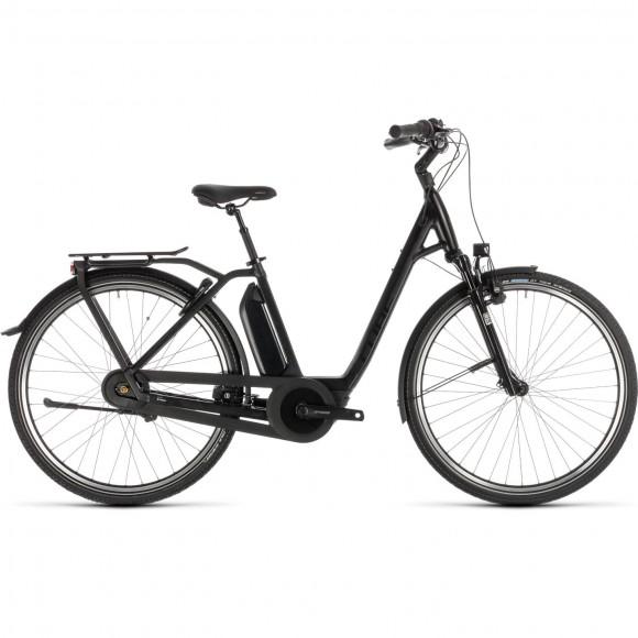 Bicicleta Cube Town Hybrid Exc 500 Easy Entry Black Edition 2019