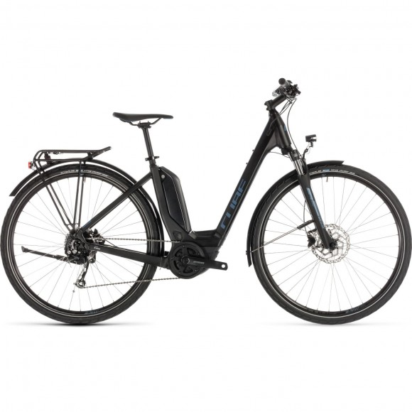Bicicleta Cube Touring Hybrid One 500 Easy Entry Black Blue 2019