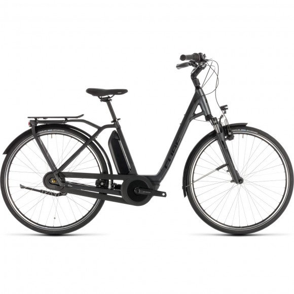 Bicicleta Cube Town Hybrid Pro 500 Easy Entry Iridium Black 2019