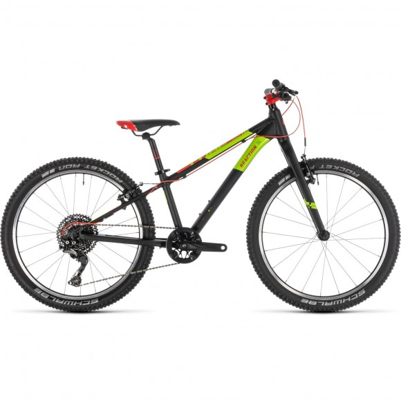 Bicicleta Cube Reaction 240 Sl Black Red Green 2019