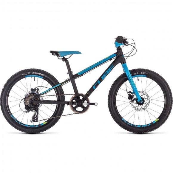Bicicleta Cube Acid 200 Disc Black Blue Kiwi 2019