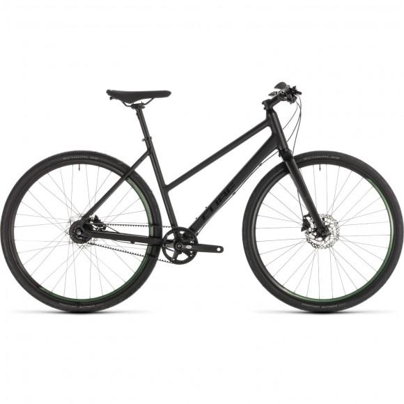 Bicicleta Cube Hyde Race Trapeze Black Green 2019