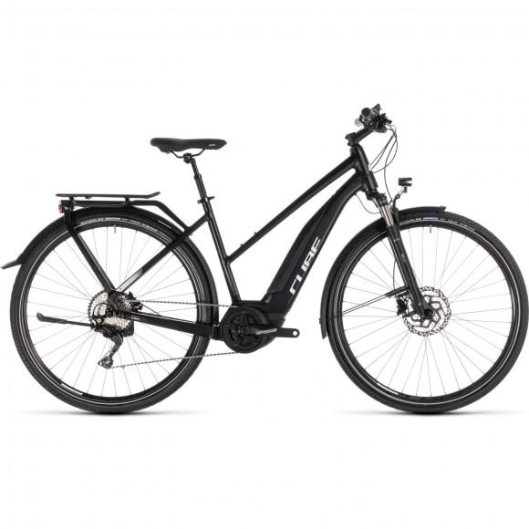 Bicicleta Cube Touring Hybrid Pro 500 Trapeze Black White 2019