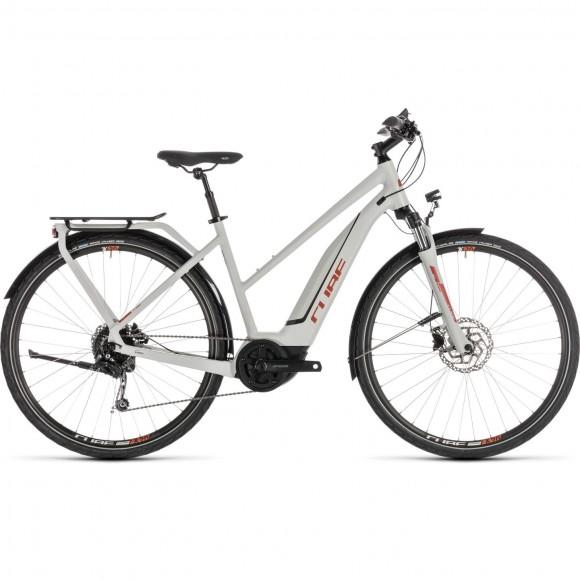 Bicicleta Cube Touring Hybrid 400 Trapeze Grey Orange 2019