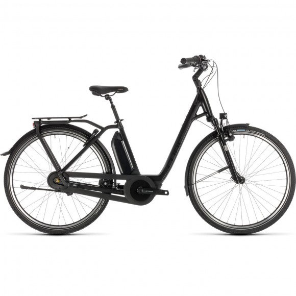 Bicicleta Cube Town Hybrid Exc 400 Easy Entry Black Edition 2019