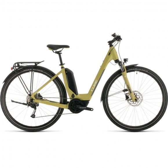 BICICLETA CUBE TOURING HYBRID ONE 400 EASY ENTRY Green White 2020