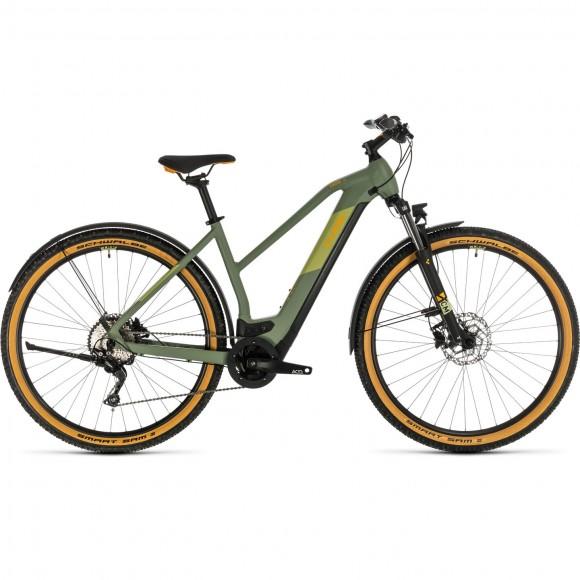 BICICLETA CUBE CROSS HYBRID PRO 625 ALLROAD TRAPEZE Green Orange 2020