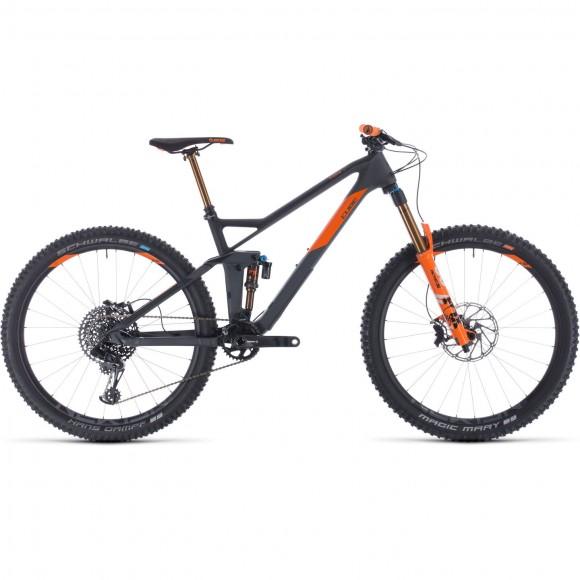 BICICLETA CUBE STEREO 140 HPC TM 27.5 Grey Orange 2020