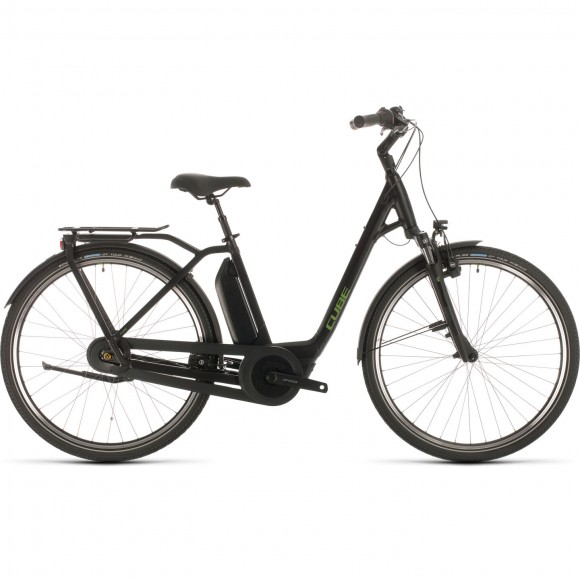 BICICLETA CUBE TOWN HYBRID PRO RT 400 EASY ENTRY Black Green 2020