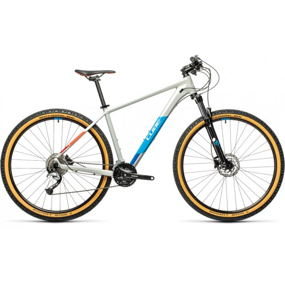 BICICLETA CUBE AIM SL Grey Blue Red 2021