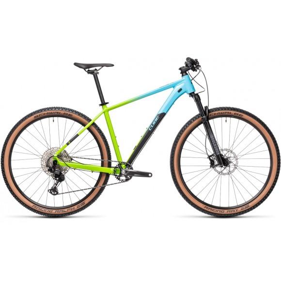 BICICLETA CUBE REACTION PRO Fadingblue Green 2021