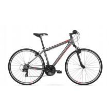 Bicicleta Kross Evado 1.0 graphite red mat 2018