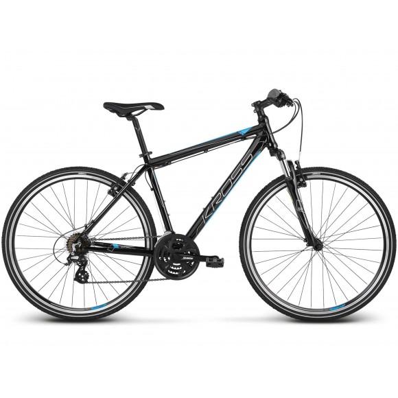 Bicicleta Kross Evado 2.0 28 black blue glossy 2019