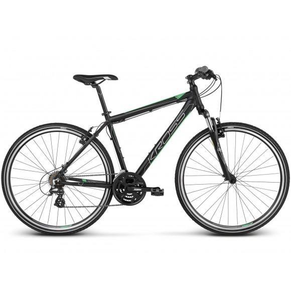 Bicicleta Kross Evado 2.0 28 black green matte 2019