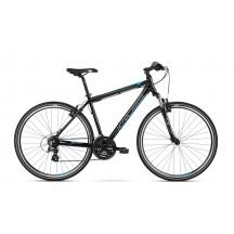Bicicleta Kross Evado 2.0 black blue glossy 2018