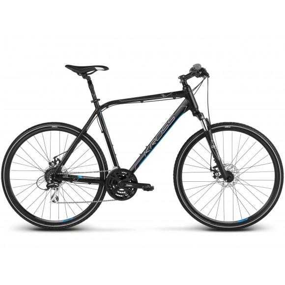 Bicicleta Kross Evado 4.0 28 black blue matte 2019
