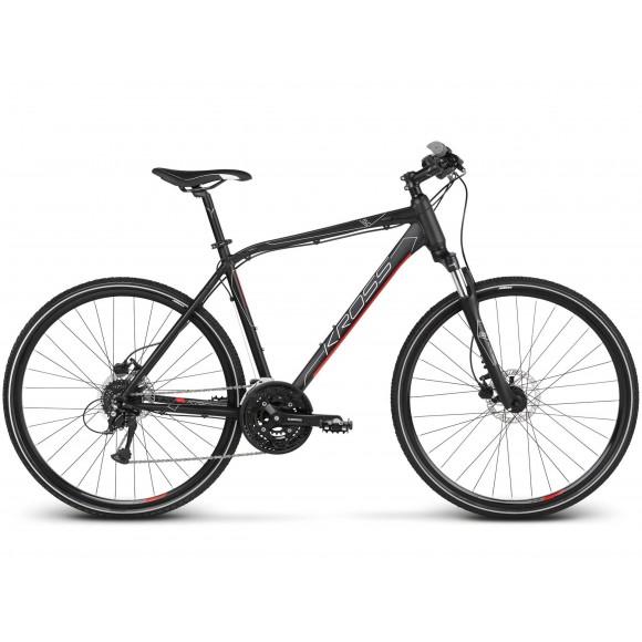 Bicicleta Kross Evado 5.0 28 black red matte 2019