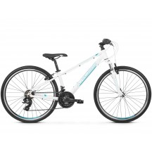 Bicicleta Kross Evado JR 1.0 white turquoise blue glossy 2019