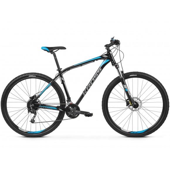 Bicicleta Kross Hexagon 7.0 27 black graphite blue glossy 2019