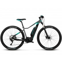 e-bike Kross Lea Boost 1.0 27 black graphite turquoise glossy