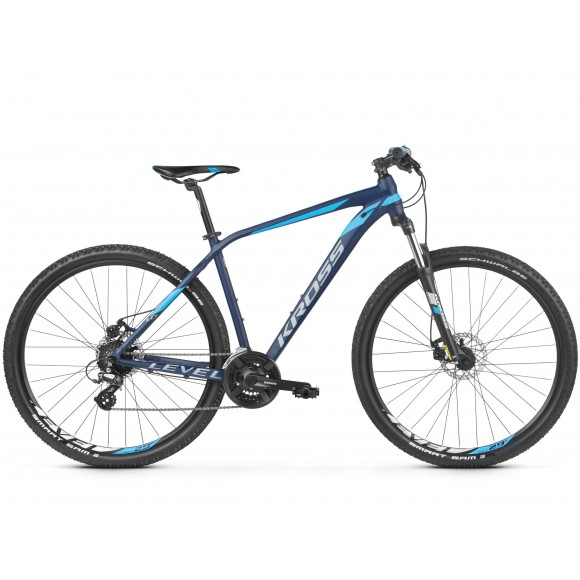 Bicicleta Kross Level 1.0 29 navy blue silver matte 2019