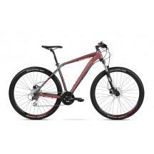 Bicicleta Kross Level 2.0 27 graphite red burgundy mat 2018