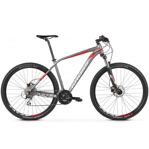 Bicicleta Kross Level 2.0 29 graphite red silver matte 2019
