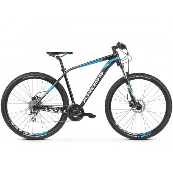 Bicicleta Kross Level 2.0 29 black blue white glossy 2019