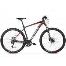 Bicicleta Kross Level 3.0 27 black red white matte 2019