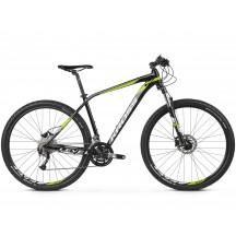 Bicicleta Kross Level 3.0 27 black lime white glossy 2019