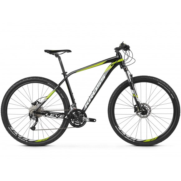 Bicicleta Kross Level 3.0 29 black lime white glossy 2019
