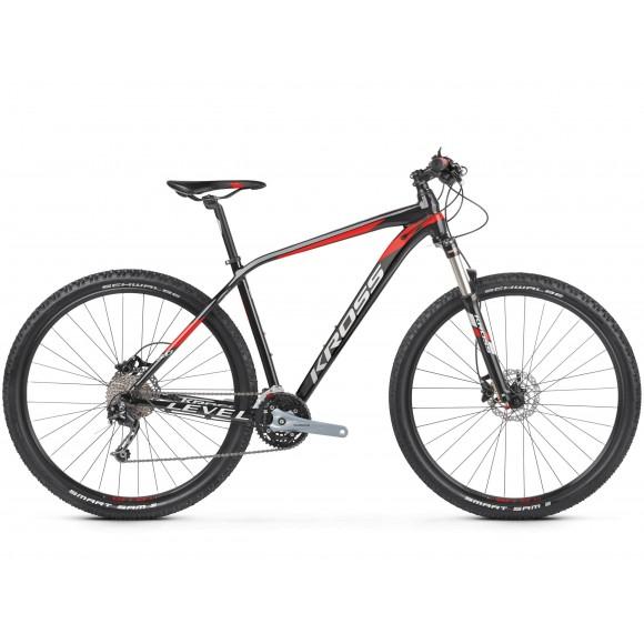 Bicicleta Kross Level 5.0 29 black red silver glossy 2019
