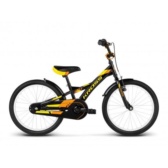 Bicicleta Kross Eli black yellow orange glossy 2017