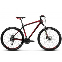 Bicicleta Kross Hexagon 3.0 26 black red burgundy  matte 2018
