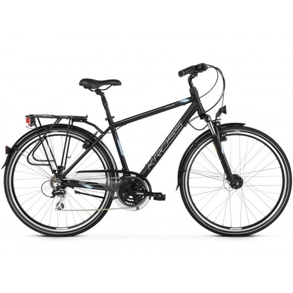 Bicicleta Kross Trans 3.0 28 black ste silver matte 2019