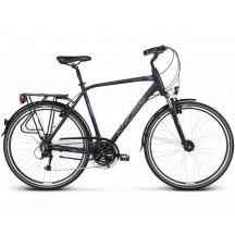 Bicicleta Kross Trans 4.0 28 black blue silver matte 2019