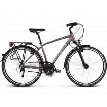 Bicicleta Kross Trans 4.0 28 graphite red silver matte 2019