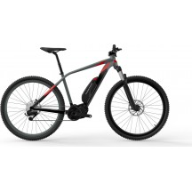 e-bike Kross Level Boost 1.0 29 black graphite red glossy