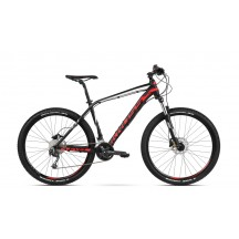 Bicicleta Kross Level 4.0 27 black red white mat 2018