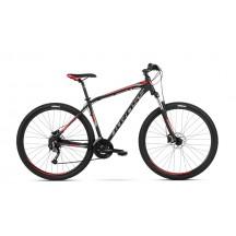 Bicicleta Kross Hexagon 6.0 27 black graphite red mat 2018