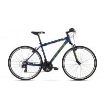 Bicicleta Kross Evado 1.0 navy blue lime mat 2018