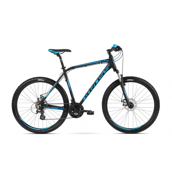 Bicicleta Kross Hexagon 3.0 27.5 black blue navy blue 2018